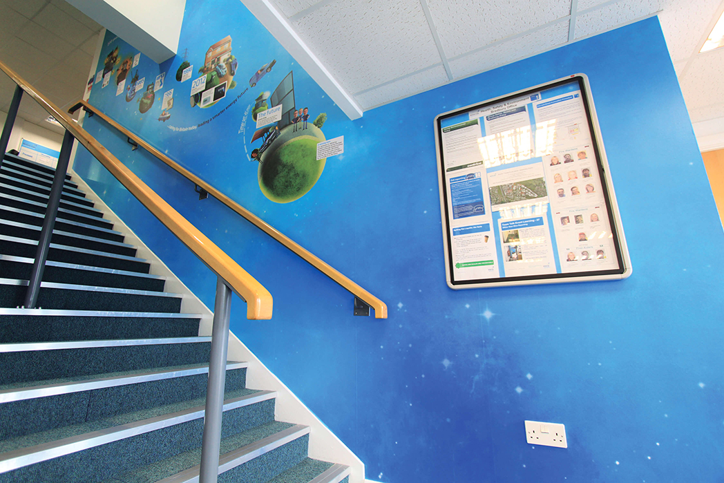 British Gas Wall Covering