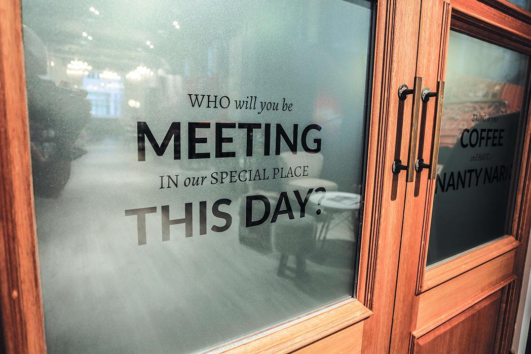 Meeting Room Door with Quote